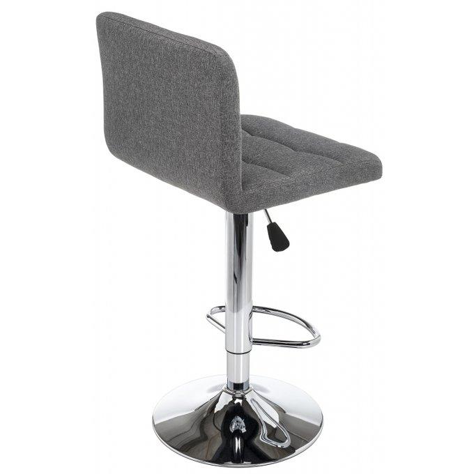 Барный стул Paskal grey fabric серого цвета