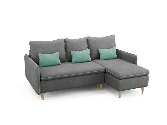 Угловой диван-кровать Ron серого цвета