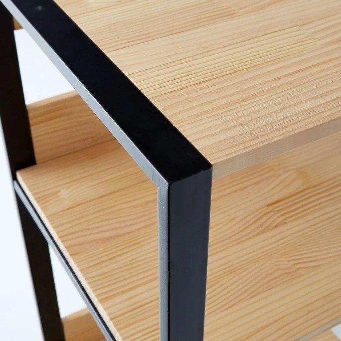Сервировочный столик на колёсиках Hiba из дерева и металла