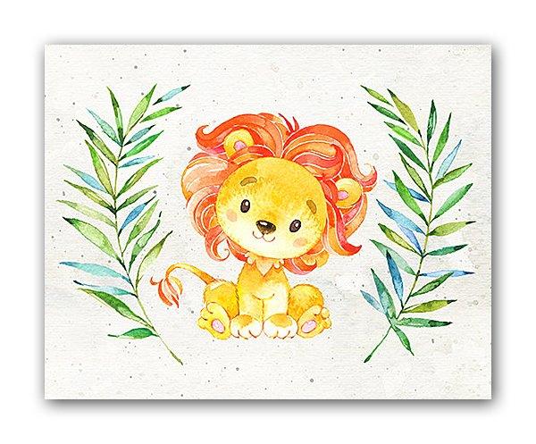 Постер Львёнок А3 на бумаге