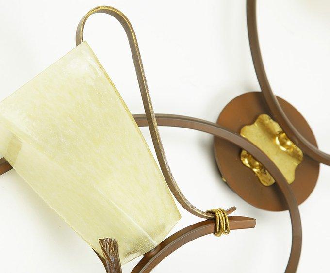 Бра Masca Aurea с плафонами из стекла янтарного цвета