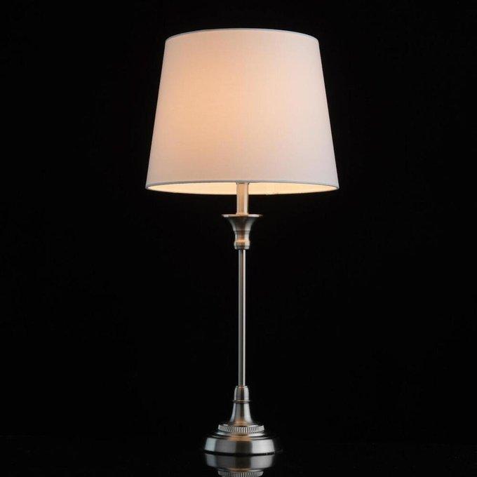 Настольная лампа Салон с белым абажуром