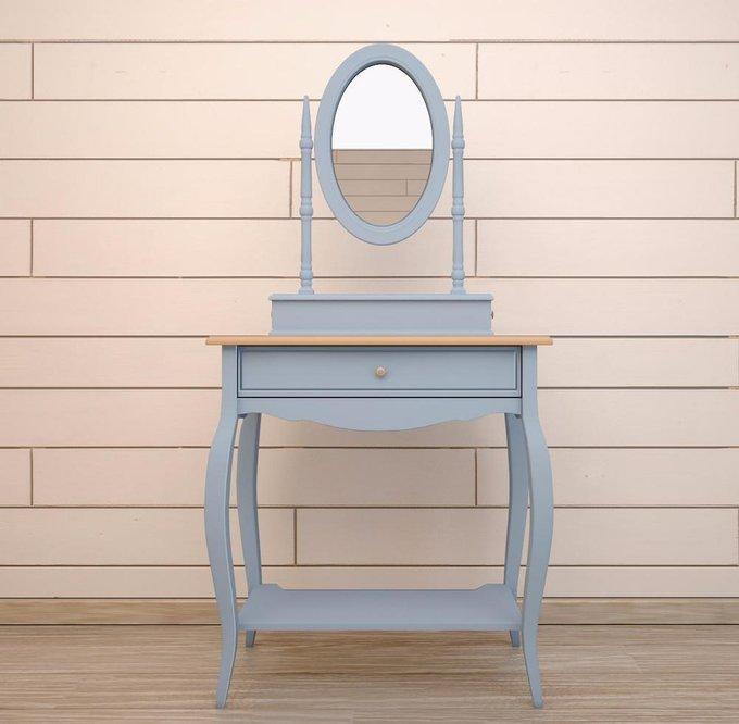 """Голубой туалетный столик """"Leontina"""" с зеркалом"""