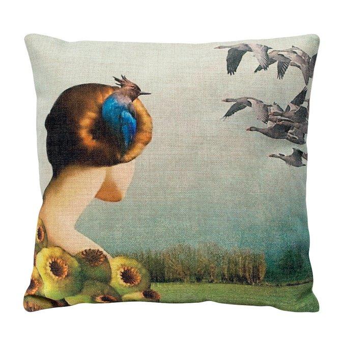 Декоративная подушка «Перелетные птицы»