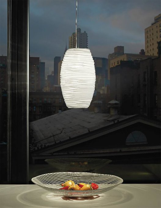 Подвесной светильник Vistosi DAMASCO с плафоном из стекла прозрачного цвета