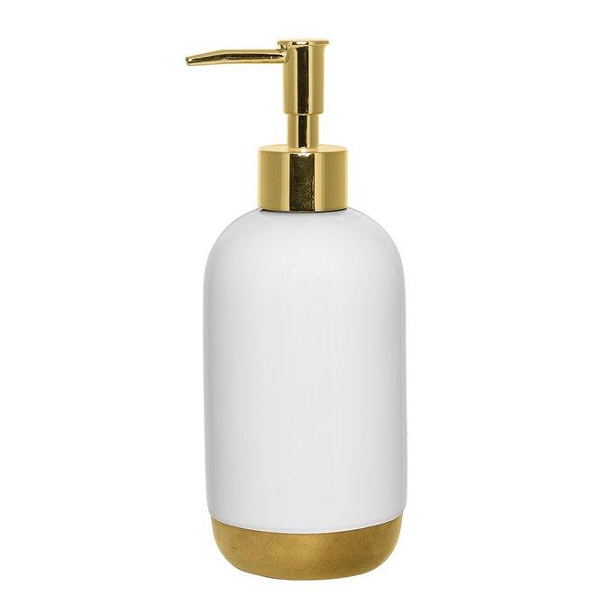 Диспенсер для мыла White&Gold бело-золотого цвета
