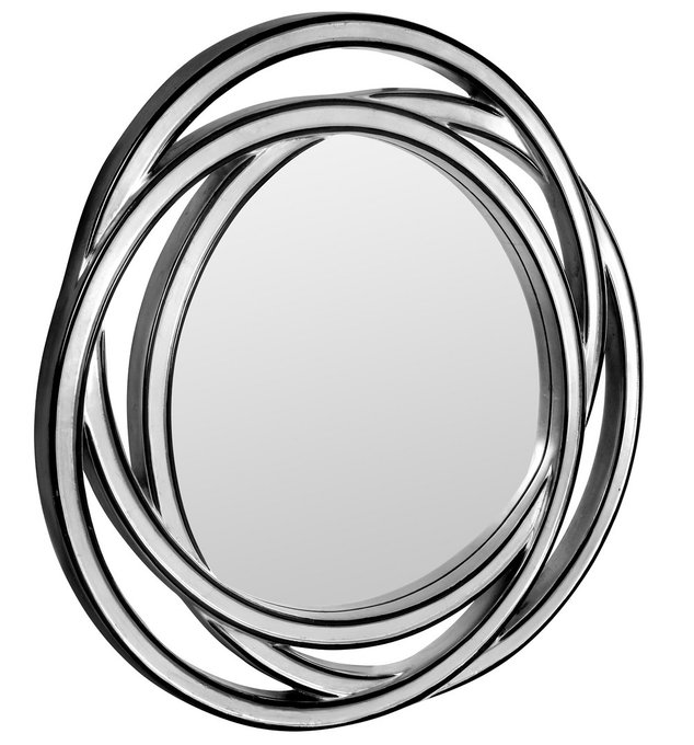 Настенное Зеркало в раме модерн Scroll
