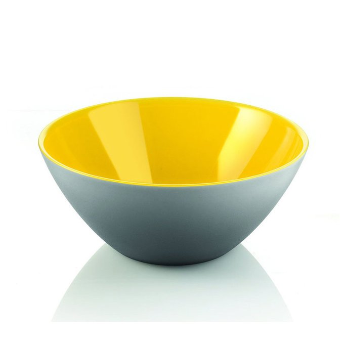 Салатница My Fusion серо-желтого цвета