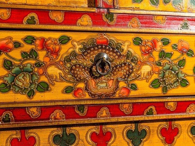 """Комод с драконом """"Тибет"""""""