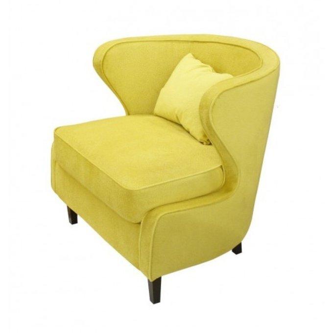 Полукруглое кресло Видия желтого цвета