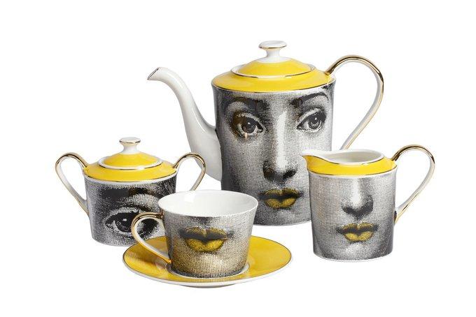 Чайный сервиз Faces Piero Fornasetti Amber