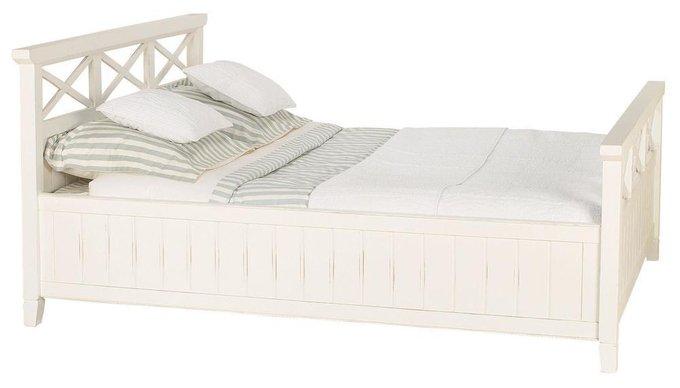 Кровать Бретань белого цвета 160х200