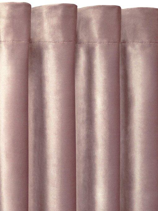 Штора велюр Rose розового цвета