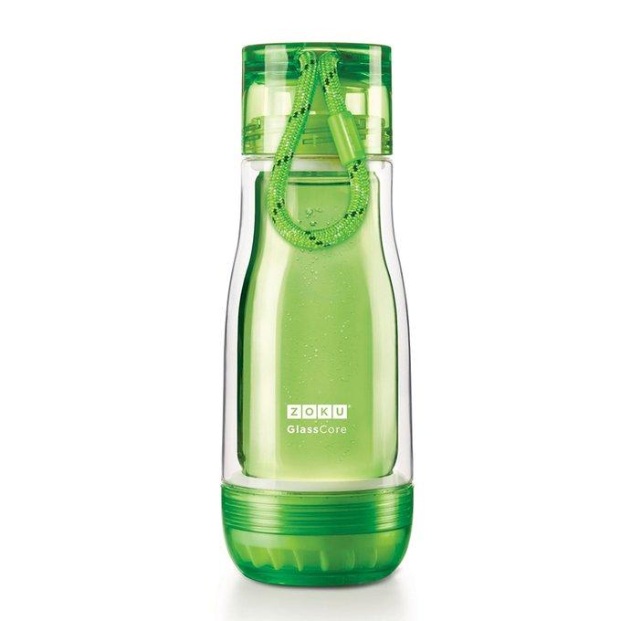 Колба стеклянная 325 мл зеленого цвета
