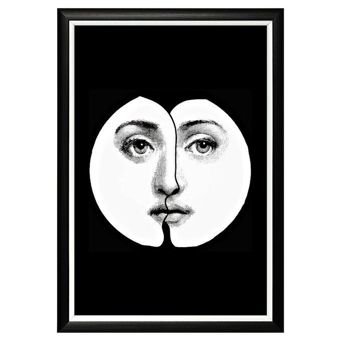 """Арт-постер """"Лина"""", версия  """"Инь-Янь"""" (Форназетти)"""