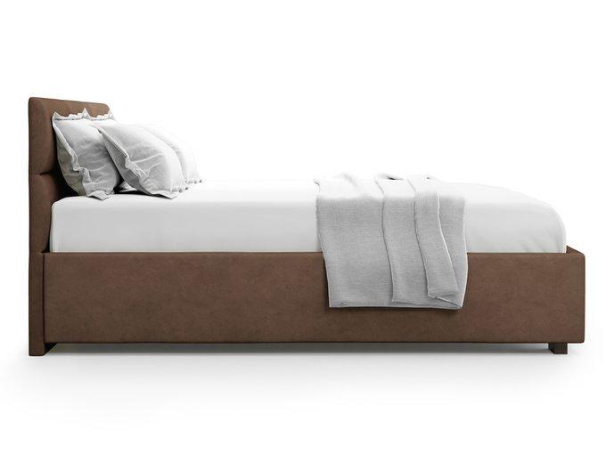 Кровать Bolsena без подъемного механизма 180х200 шоколадного цвета