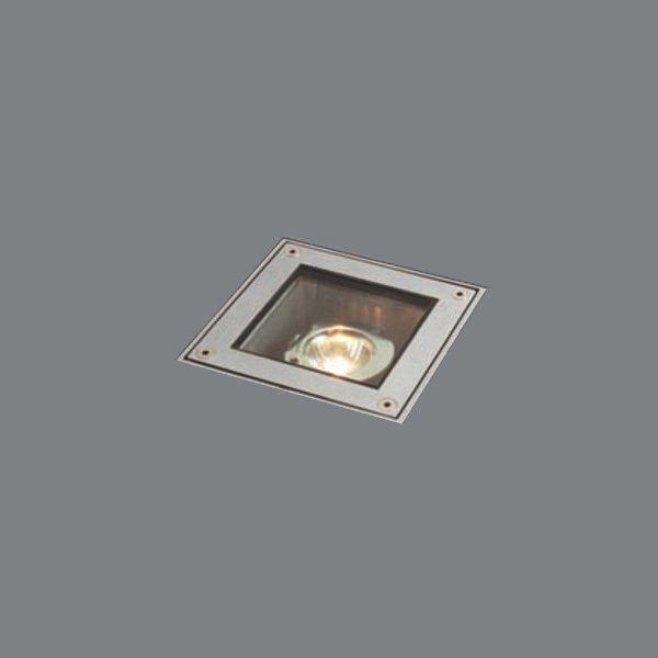 Встраиваемый светильник Wever & Ducre MINI SUNSET CARRE II silver из анодированного алюминия