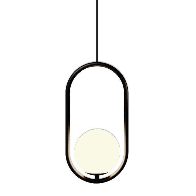 Подвесной светильник Кенти с плафоном белого цвета