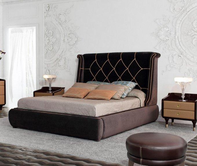 Кровать Tecni Nova коричневого цвета 180х200