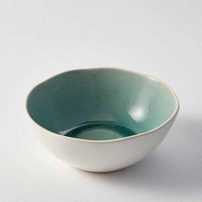 Набор из четырех чаш Gogain зелено-белого цвета