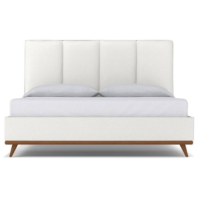 Кровать Carter Snowfall белого цвета 180х200