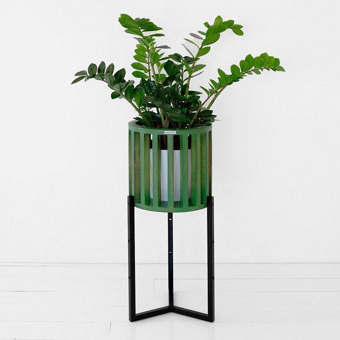 Кашпо Куг в зеленом цвете