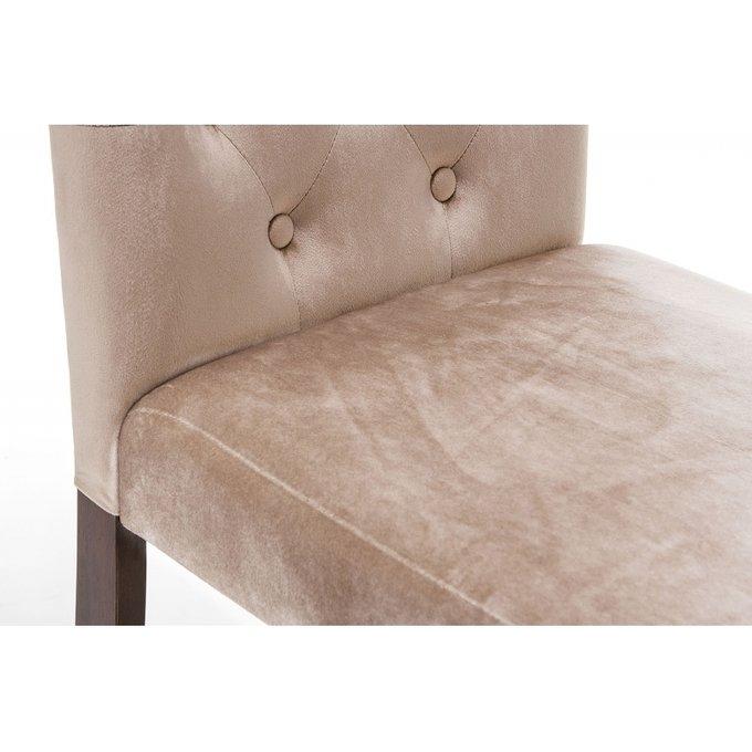 Стул Amelia dark walnut fabric beige бежевого цвета