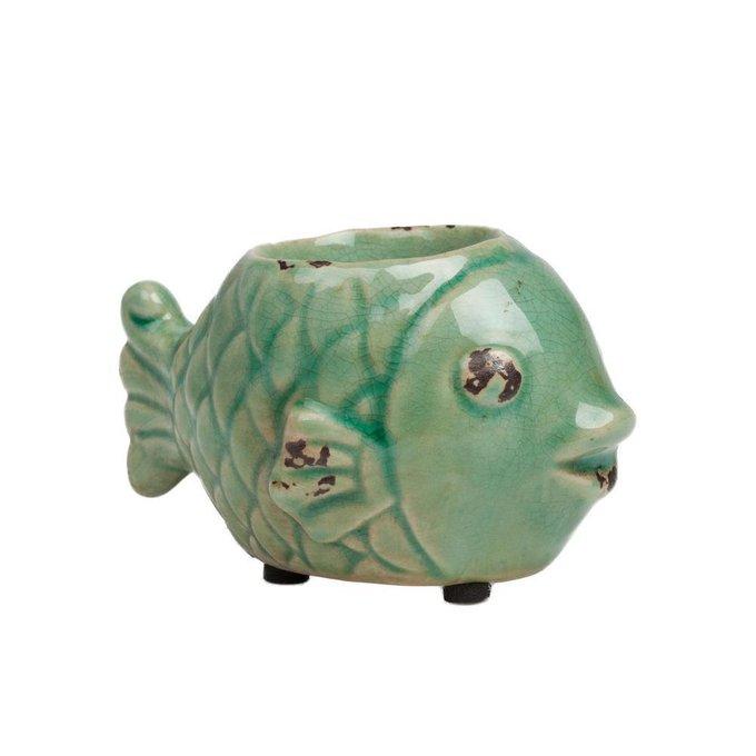 Керамический подсвечник Рыбка