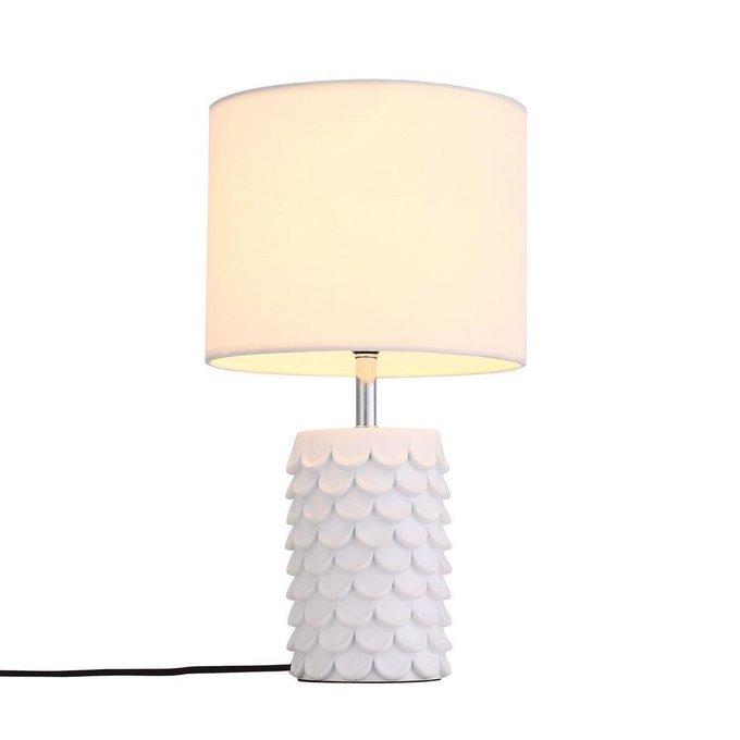 Настольная лампа Tabella с бежевым абажуром