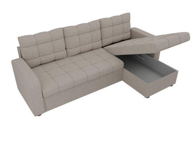 Угловой диван-кровать Ливерпуль  бежевого цвета