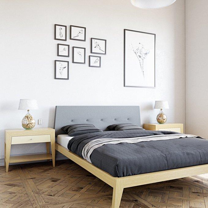 Кровать Fly с мягким изголовьем 140х200 см