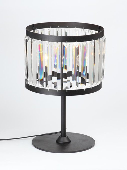 Настольная лампа с плафоном из стекла