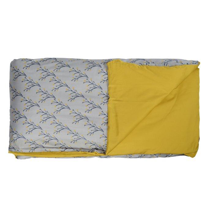 Двусторонний комплект постельного белья из сатина с принтом соцветие 150х200