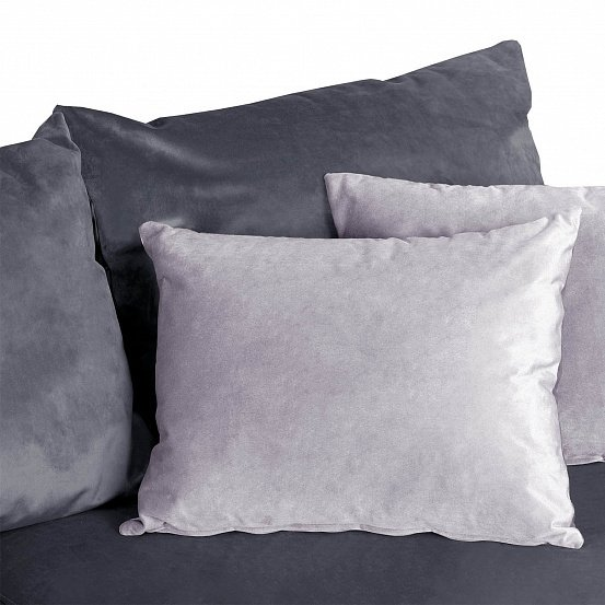 Угловой диван-кровать Мэдисон Лувр серого цвета большой