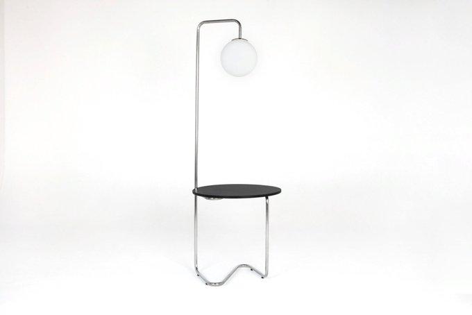 Столик со светильником Bauhaus на металлическом каркасе