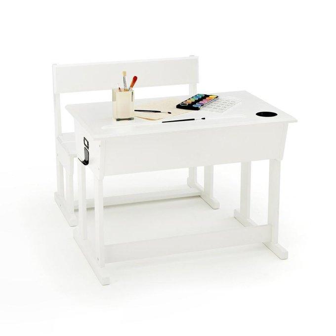 Стол-парта со стулом Toudou белого цвета