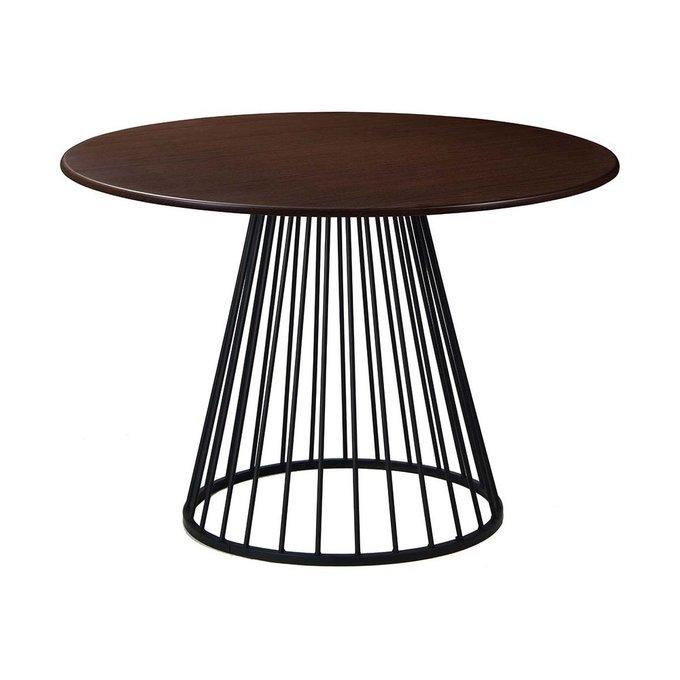 Обеденный стол Twister Black со столешницей цвета венге