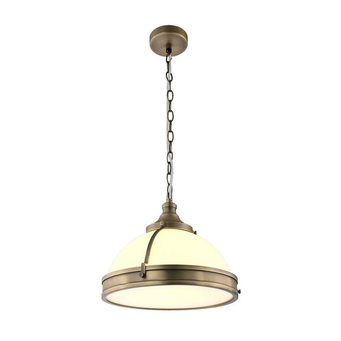 Подвесной светильник из металла и стекла