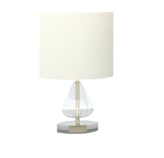 Настольная лампа Armony со стеклянным декоративным элементом
