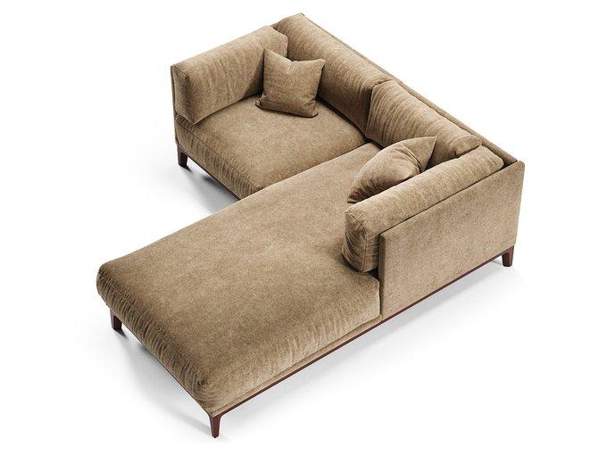 Угловой диван Case светло-коричневого цвета
