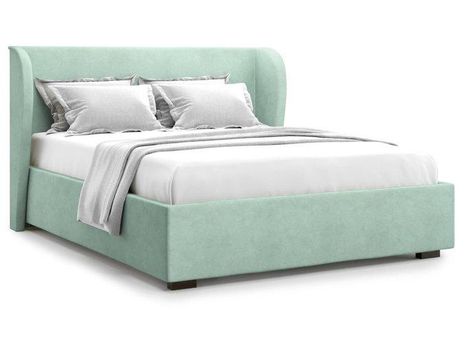Кровать Tenno 160х200 бирюзового цвета с подъемным механизмом