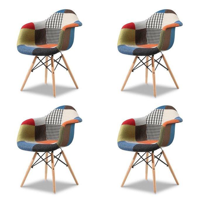 Набор из четырех Стульев patchwork