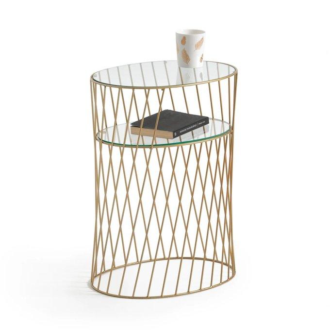 Прикроватный столик Elori из металла и стекла