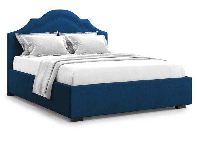 Кровать Madzore без подъемного механизма 140х200 синего цвета