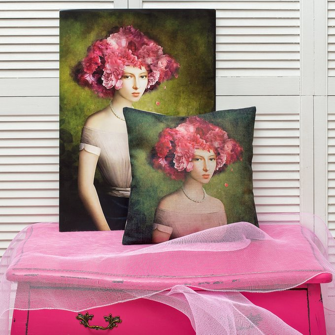 Арт-постер Розовый аметист в раме из полистирола