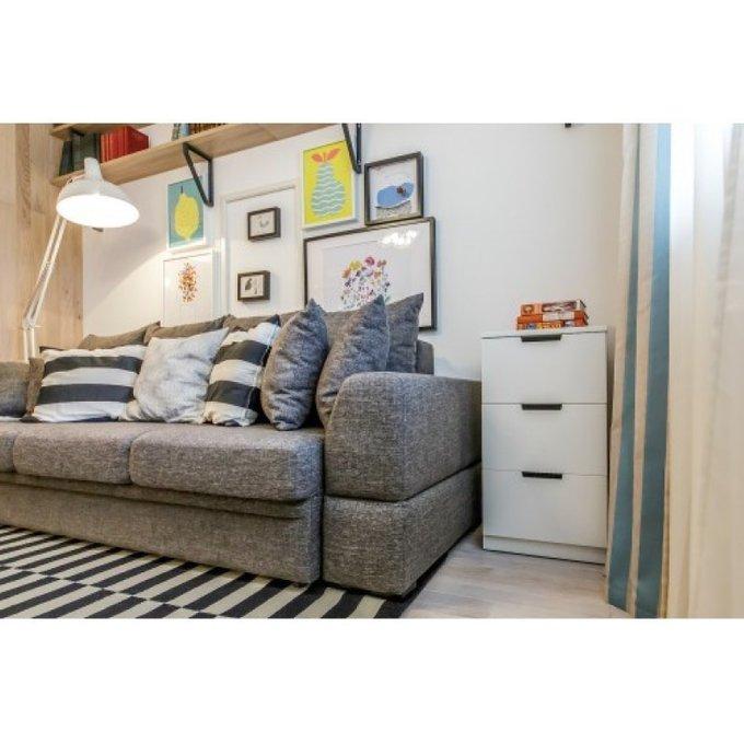 Раскладной диван Эстет коричневого цвета