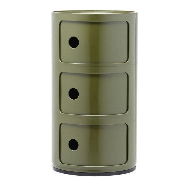 Тумба Componibili зеленого цвета