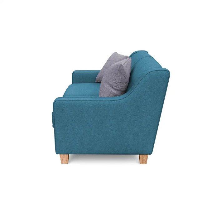 Двухместный диван-кровать Агата S синего цвета