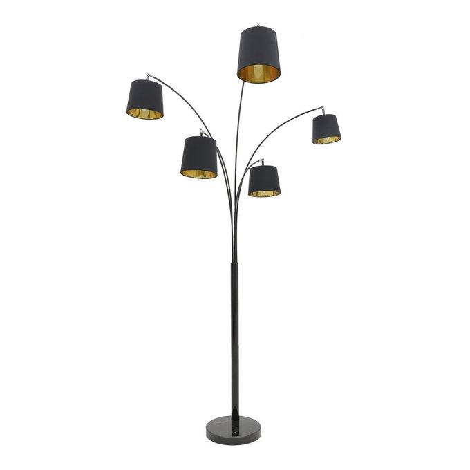 Лампа напольная черная