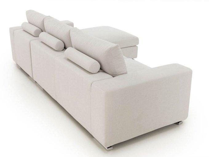 Угловой диван-кровать Канзас buono белого цвета